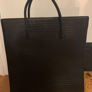 Escada leather structures tote bag